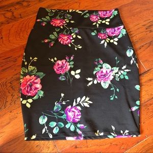 Silhouettes NYC floral bodycon pencil skirt 2x